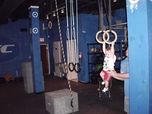 The youngest crossfitter at CFC